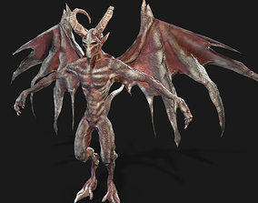 3D asset Winged Demon Gargoyle