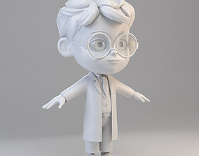 Cartoon Scientist Boy 3D model
