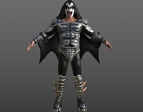 Gene Simmons Kiss musician PBR 3D model