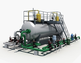 Industrial Three-phase Separator 3D model