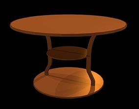 3D asset Low poly coffee table