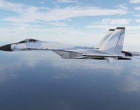 Sukhoi SU27 Flanker 3D asset