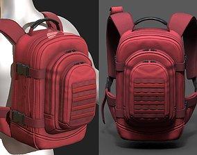 Backpack Camping bag baggage Color 3D asset