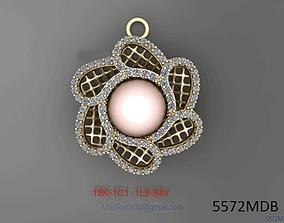 Womens pendants pearl diamond Italian 3D printable model