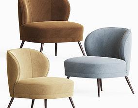 Kitts Chair Flax Linen Arteriors 3D model