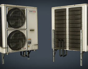 3D model animated External air conditioner 2