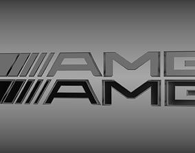 3D model AMG logo set