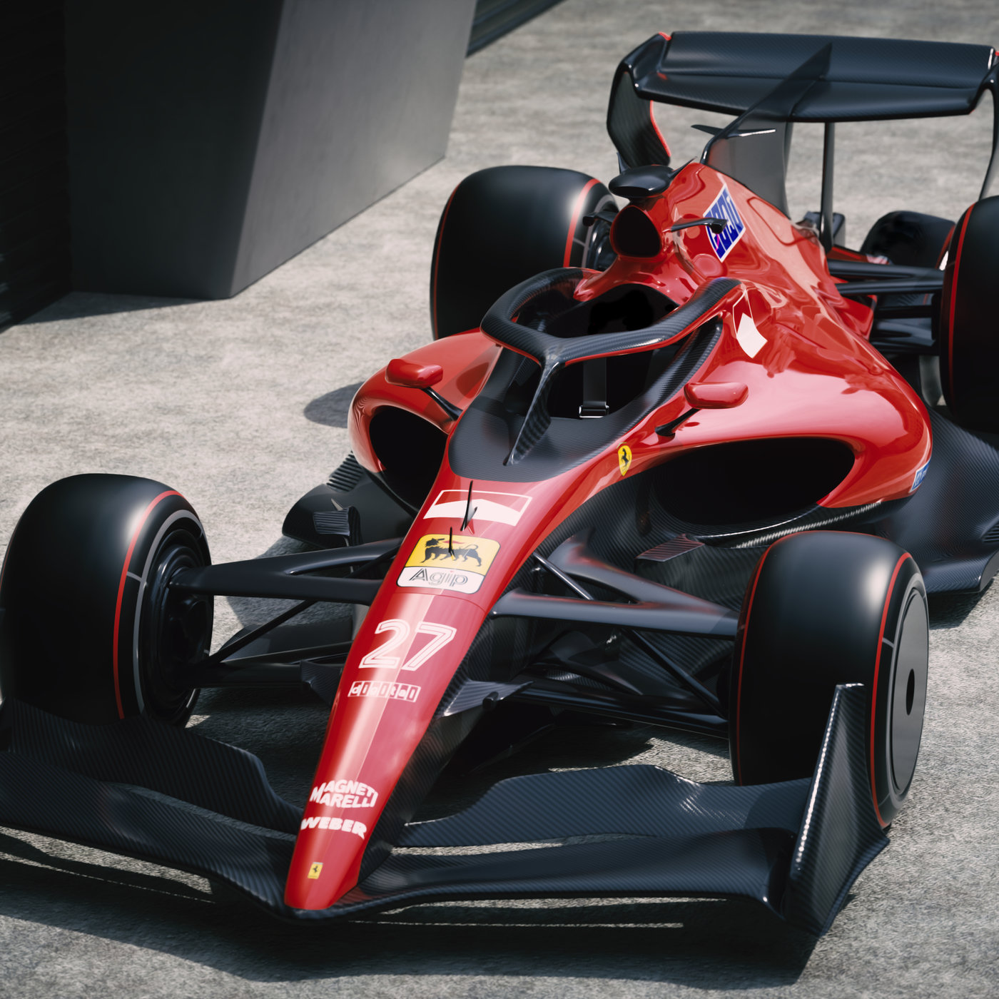 Ferrari F1 2021 Retro   CGTrader