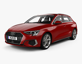 Audi A3 S-line sportback with HQ interior 2020 3D