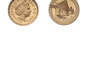 One-Pound Coin 3D asset