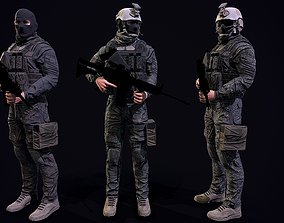 US Soldier 3D asset