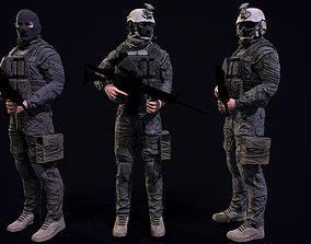 US Soldier 3D asset