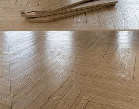Chevron Rustic Oak Wood Floor 002 3D