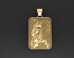 Zodiac Sign Aries pendant 3D printable model jeweler