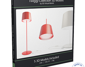 Twiggy Lamps Collection 3D