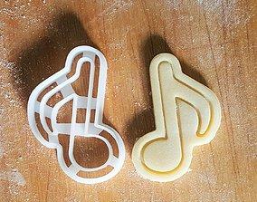 Music note cookie cutter 3D print model