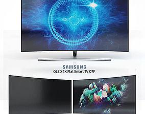 3D Samsung 55 and 65 QLED 4K Curved Smart TV