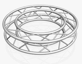 3D model Circle Square Truss - Full diameter 150cm