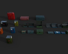 3D model Metal Boxes and Canisters