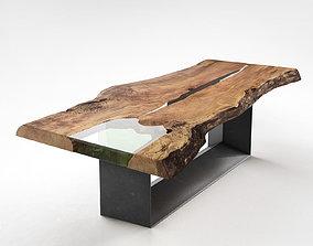 transparent 3D Cube Table