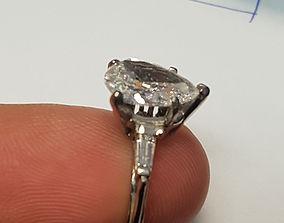 Pearl ring 3D printable model fashion