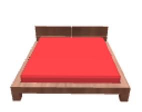 Dark wooden bed 3D model