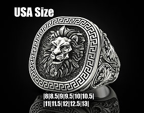 Lion ring Greek ornament 3D print model