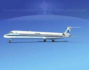 3D model McDonnell Douglas MD83 Air Aruba