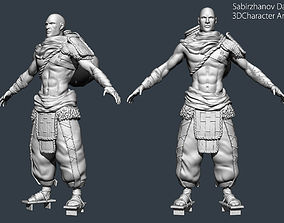 Nomad PBR game character 3D model