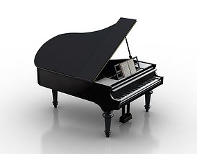3D model piano instrument