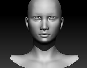 character 3D model Woman head