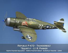 Republic P-47D Thunderbolt - Squirt II 3D model