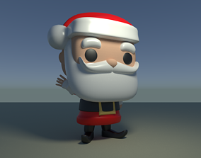 Custom Pop Santa Claus Figure 3D Print DIY Model