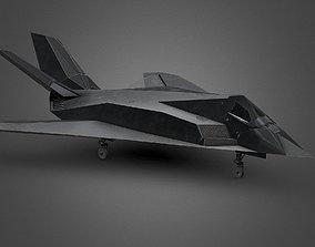 F117 Aircraft VR 3D asset
