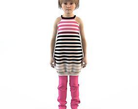 Girl dress t shirt skirt Baby clothes 3D