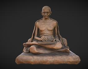 3D asset Gandhi with letter