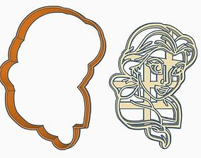 Beauty and the Beast Cookie Cutter Set 3D printable model