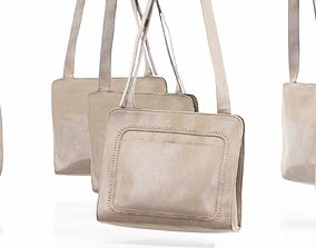 Beige Leather Shoulderbag 3D model