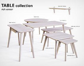 3D model Table Collection Ash Veneer