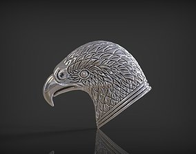 Eagle head Jewelry 3D print model gems