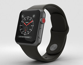 Apple Watch Series 3 38mm GPS Space Gray Aluminum Black 3D