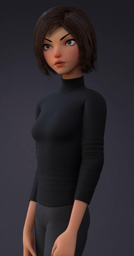 Violet upcoming model .