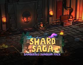 Shard Saga Dangerous Dungeon Pack 3D asset