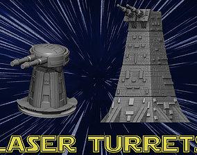 Laser tower 3D print model