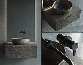 Inbani Grate Vanity Unit Set 1 3D model