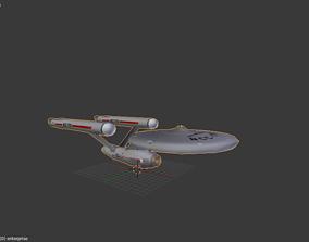 enterprise star trek 1966 3D model