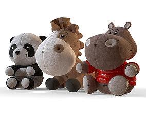 3D Set of soft toys