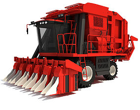 3D Cotton Picker Harvester