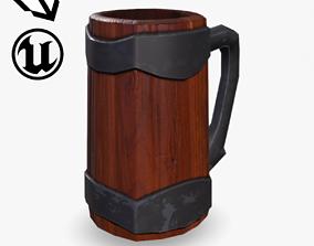 Fantasy Wooden Mug 3D asset