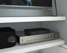 Amp stereo hi fi 3D model